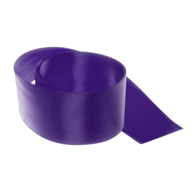 Satin Ribbons - Ribbon Satin Deluxe Double Faced Violet (50mmx25m)