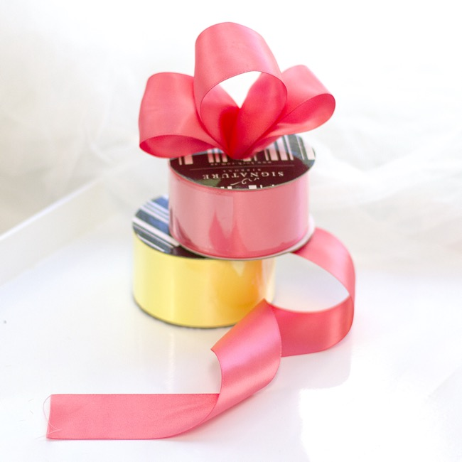 Satin Ribbons - Ribbon Satin Deluxe Double Faced Watermelon (50mmx25m)