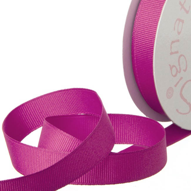 Ribbon Plain Grosgrain Hot Pink (15mmx20m)