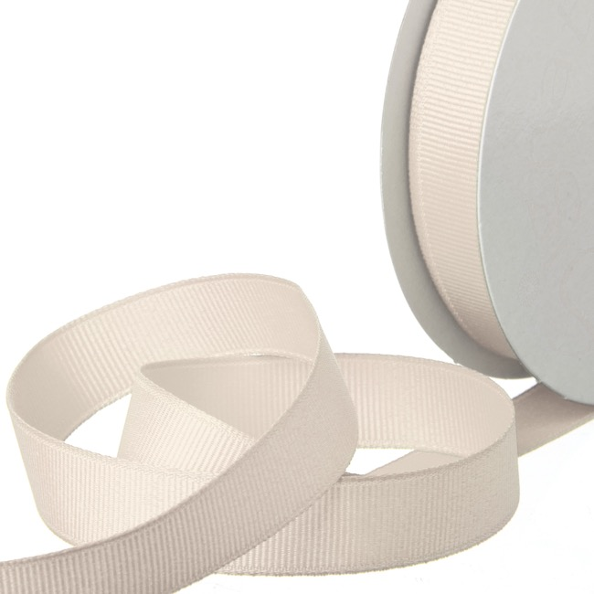 Grosgrain Ribbons - Ribbon Plain Grosgrain Natural (15mmx20m)