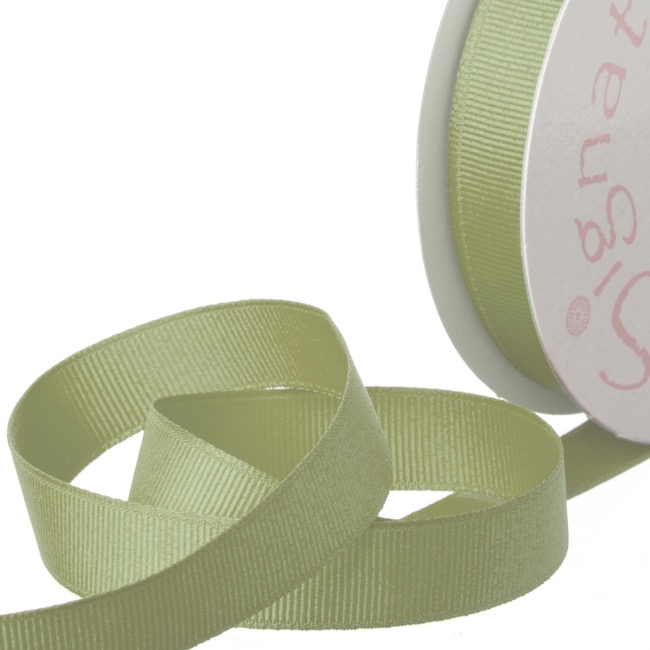 Ribbon Plain Grosgrain Sage (15mmx20m)