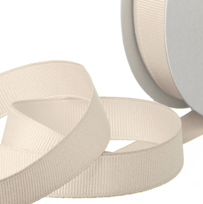 Ribbon Plain Grosgrain 25mmx20m Natural