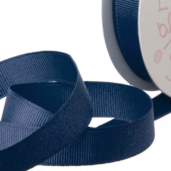 Grosgrain Ribbons - Ribbon Plain Grosgrain Navy (25mmx20m)