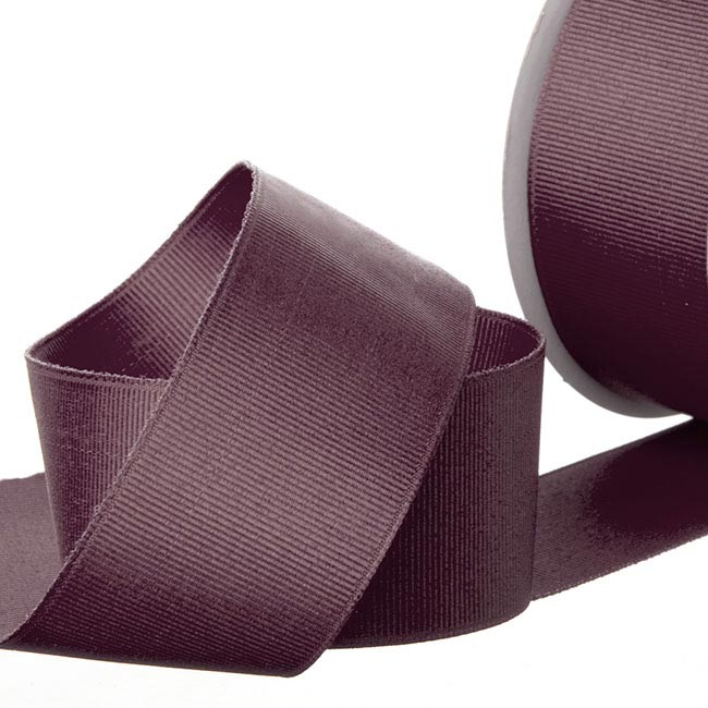 Grosgrain Ribbons - Ribbon Plain Grosgrain Burgundy (38mmx20m)