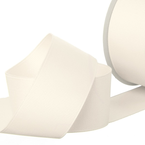 Ribbon Plain Grosgrain Cream (38mmx20m)