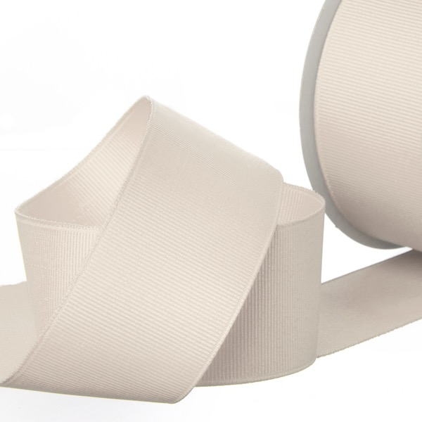 Grosgrain Ribbons - Ribbon Plain Grosgrain Natural (38mmx20m)
