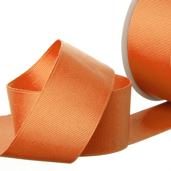 Grosgrain Ribbons - Ribbon Plain Grosgrain Orange (38mmx20m)