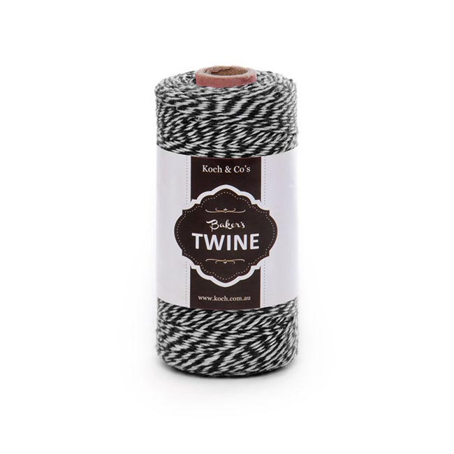 Baker's Twine 4ply 1mm X 219m Black/White