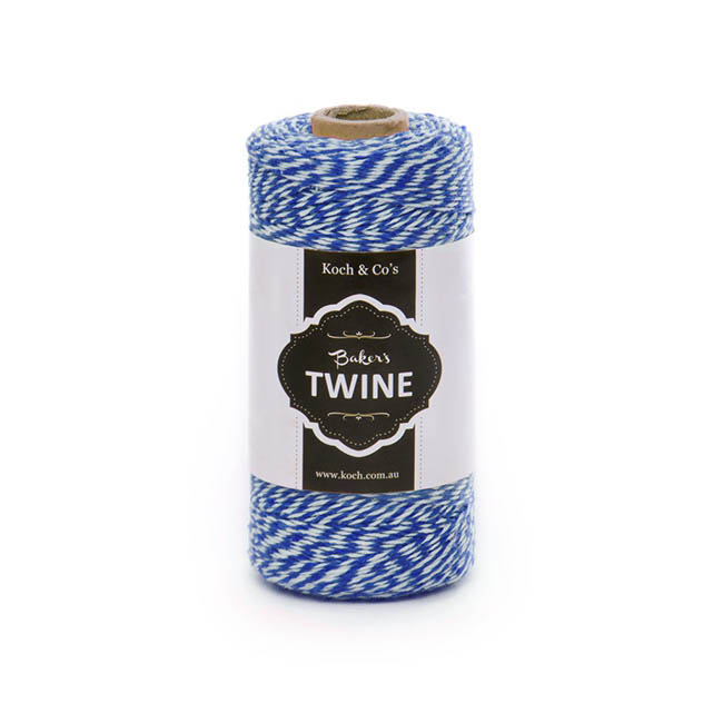 Twine - Bakers Twine 4ply Navy White (1mmx219m)