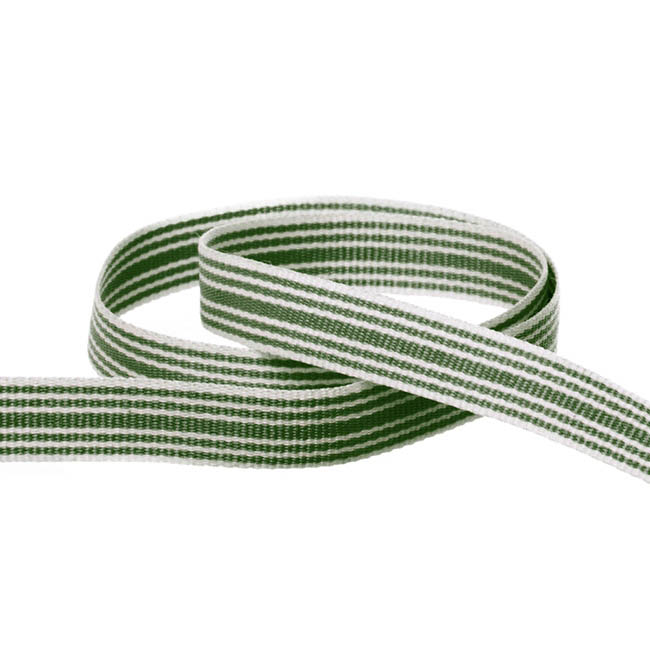 Grosgrain Ribbons - Grosgrain Multi Stripes Ribbon Moss (10mmx20m)