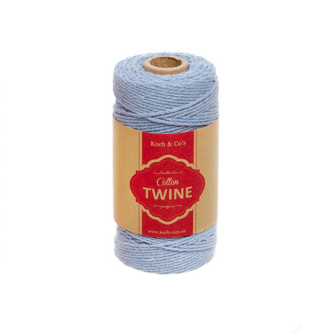 Cotton Twine 12ply 1.2mm X 100m Baby Blue
