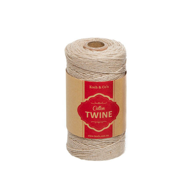 Cotton Twine 12ply 1.2mm X 100m Natural