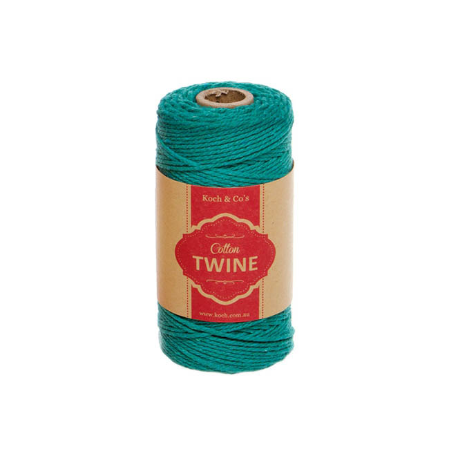 Twine - Cotton Twine 12ply 1.2mm X 100m Teal