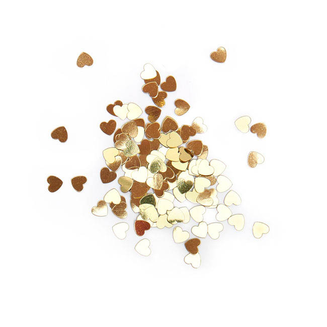 Confetti Heart Regular 25g Gold