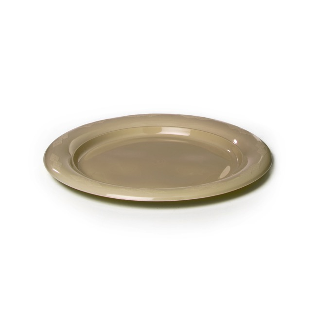 Party Tableware - Deluxe Plastic Plate Gold (18cmD) Pack 25