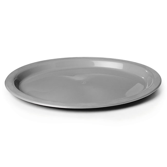 Plate Oval Premium 315x245mm Pack 25 Silver