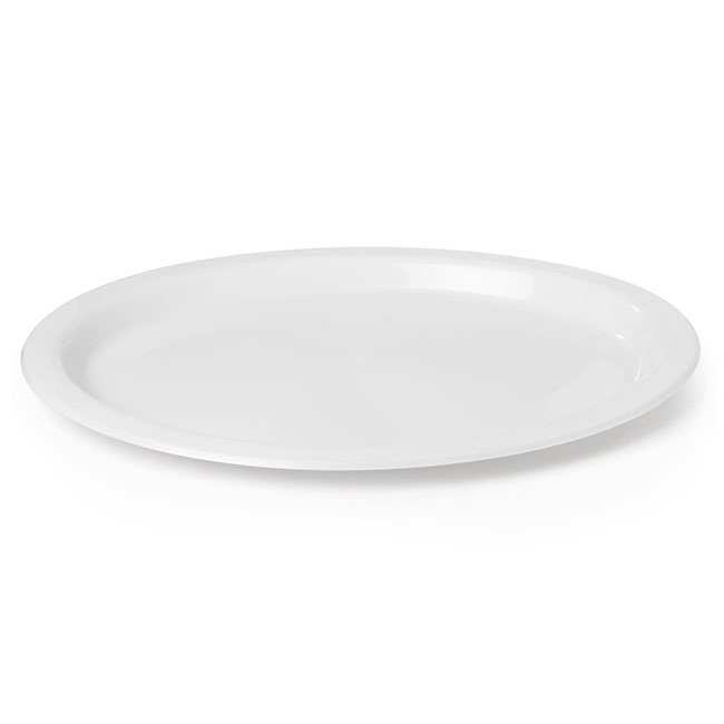 Plate Oval Premium 315x245mm Pack 25 White