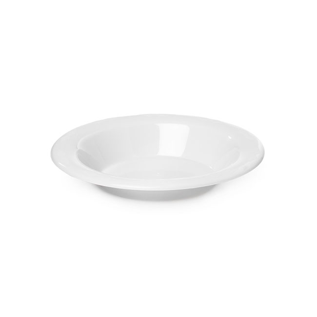Party Tableware - Deluxe Plastic Bowl White (18cmD) Pack 25