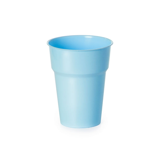 Party Tableware - Deluxe Plastic Cup Soft Blue (285ml) Pack 25
