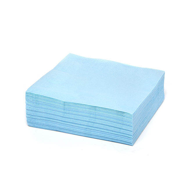 Napkin Lunch 30x30cm 2ply Pack 50 Soft Blue