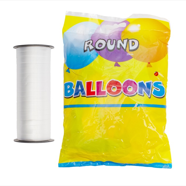 Helium Tanks - Balloon Time Jumbo Helium Tank Kit With 50 Balloons & Ribbon
