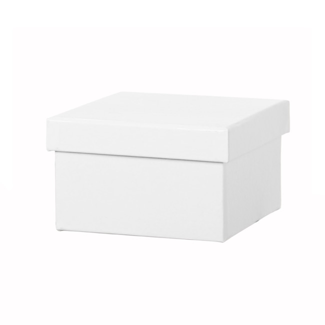 Jewellery Box Square White 5 Pack (7.5x7.5x5.5cmH)