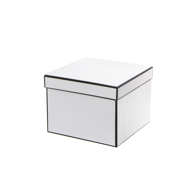 Bomboniere Jewellery Box - Signature Jewellery Box Silhouette White (7x7x6cmH) Pack 5