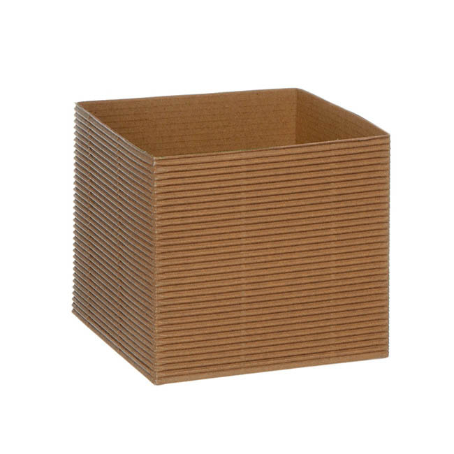 Posie Flower Box Mini - Mini Corrugated Posy Box Natural (13x13x12cmH) Pack 10