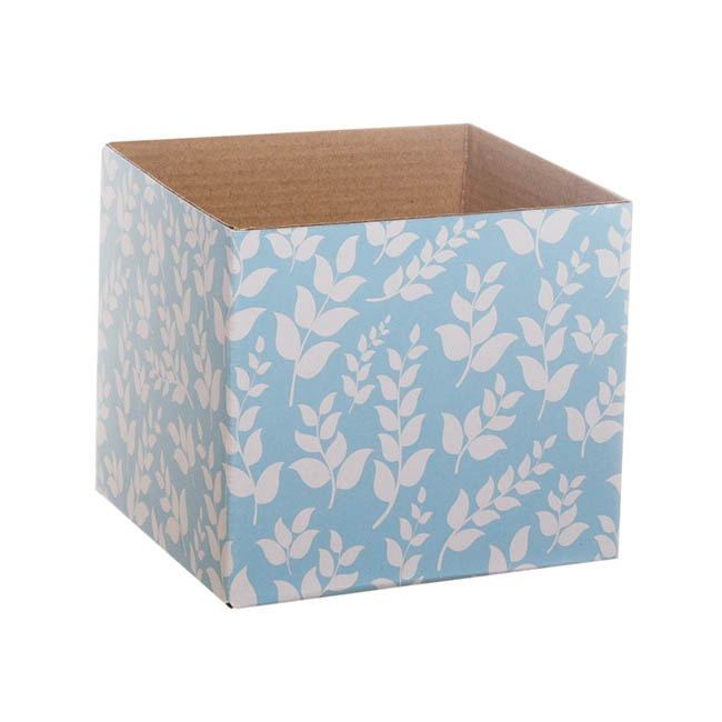 Floral Mini Posy Box Baby Blue (13x12cmH)