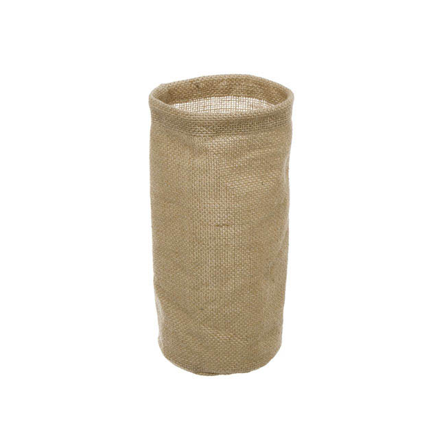 Flower Pot Cover - Natural Jute Vase Cover With Plastic Liner (11Dx20cmH)