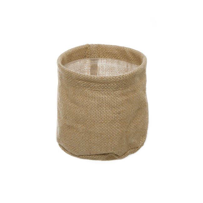 Natural Jute Pot Cover With Plastic Liner (13Dx12cmH)