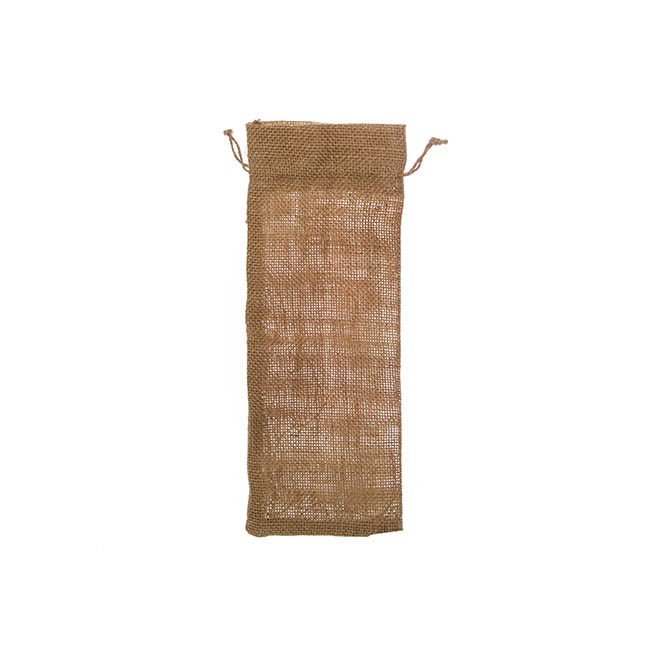 Wine Gift Bags - Wine Pouch Hessian Jute (13x32cmH) Pack 10