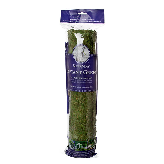 Natural Moss - Preserved Moss Mat Roll Green (45X122cm)