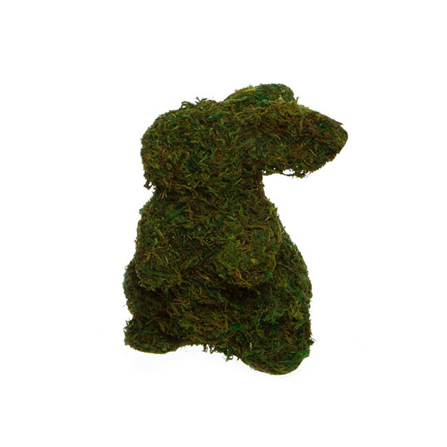 Garden Trend Rabbit with Moss Standing Green (19cmH)