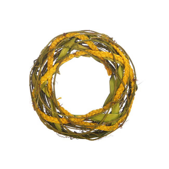 Natural Woven Wreath Small Lime (26cmD)
