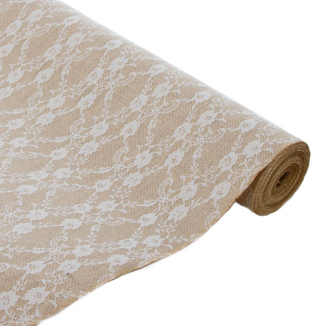 Jute Lace Roll Natural (50cmx5m)