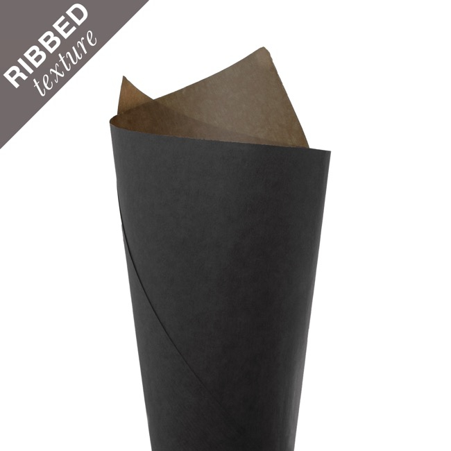 Ribbed Brown Kraft Paper 70gsm Black PK200 (50x70cm)