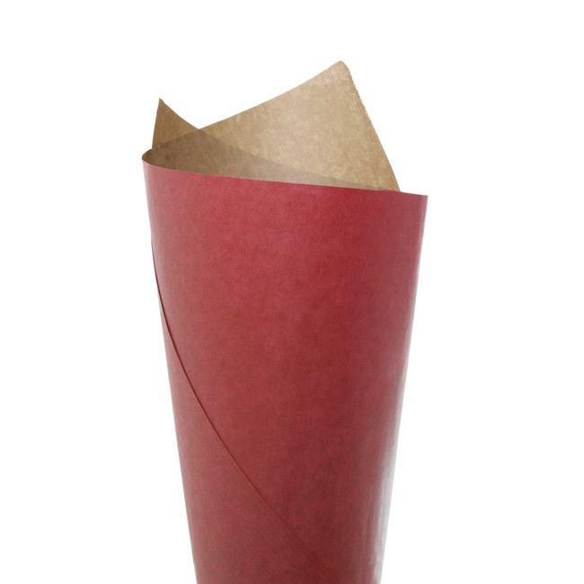 Ribbed Brown Kraft Paper 70gsm Red PK200 (50x70cm)