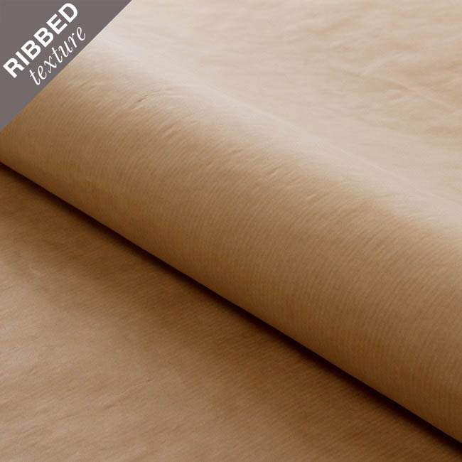 Ribbed Brown Kraft 65gsm Paper Roll Natural (70cmx50m)