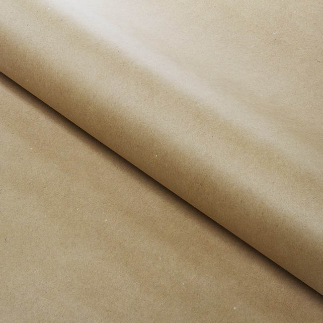 Brown & White Kraft Paper - Brown Kraft Paper Roll 60gsm (75cmx50m)