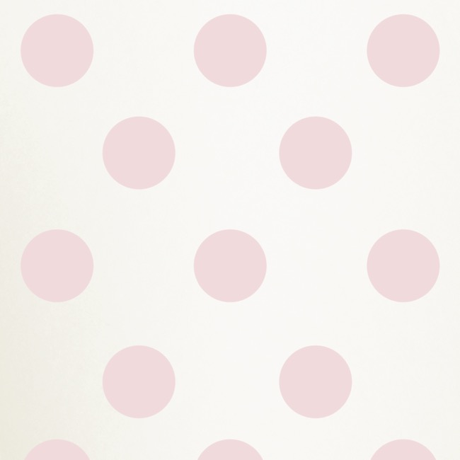 Tissue Paper - Tissue Paper 17gsm White Bold Dots Baby Pink(50x70cm) Pk 100