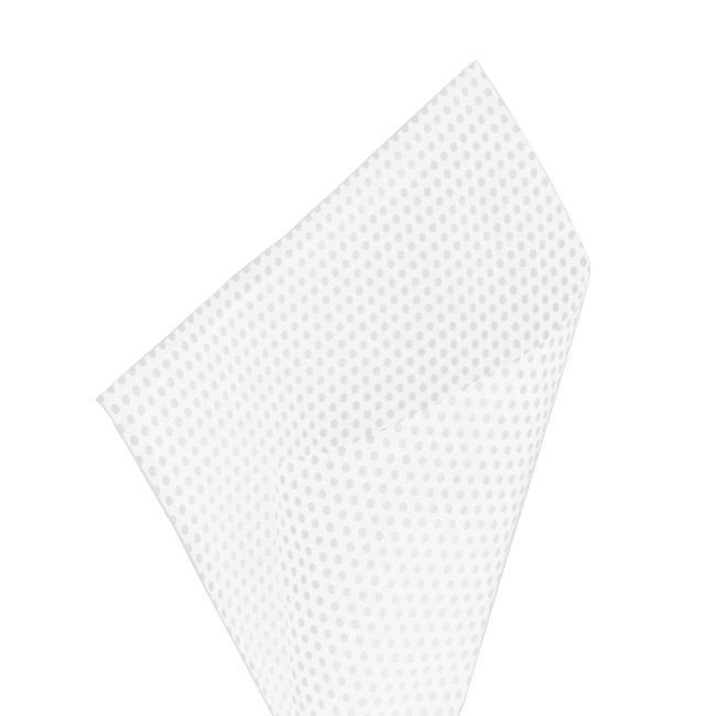 Tissue Paper - Tissue Paper 17gsm Small Dots White (50x70cm) Pack 100