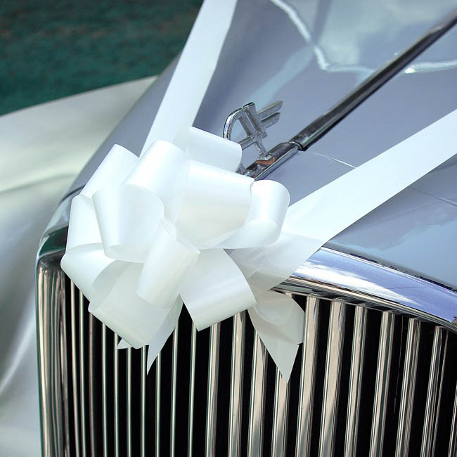 Wedding Car & Special Occasion Ribbons - Wedding Car & Event Ribbon White (10cmx10m)