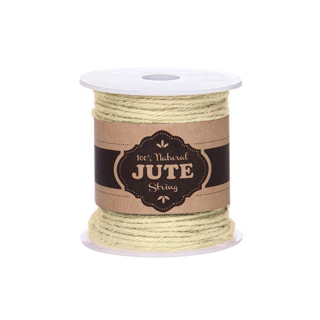 Natural Jute String 4ply 100g Ivory (70m)
