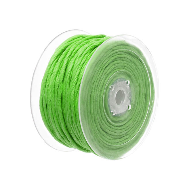 Twisted Paper Cord Lime (4mmx50m)