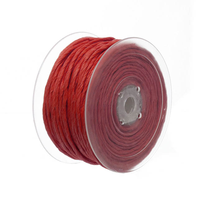 Twisted Paper Cord Red (4mmx50m)