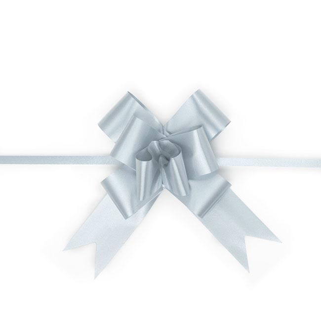 Ribbon Pull Bow 25 Pack Baby Blue (32mmx53cm)