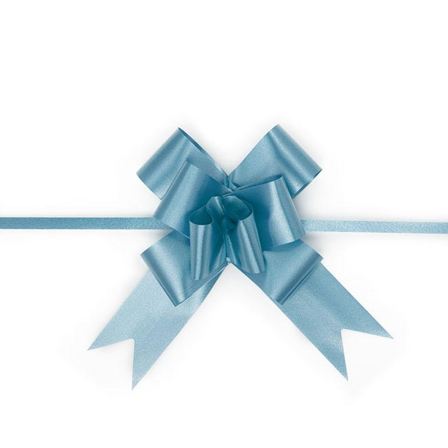 Ribbon Pull Bow 25 Pack Royal Blue (32mmx53cm)