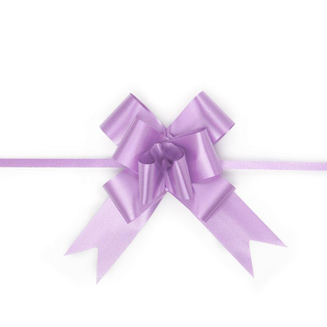Ribbon Pull Bow 25 Pack Lavender (32mmx53cm)