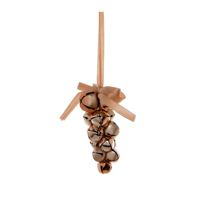 Hanging Noel Bell Grape Decoration Copper (12cmH)